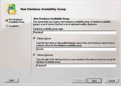 Экран 1. Мастер New Database Availability Group wizard