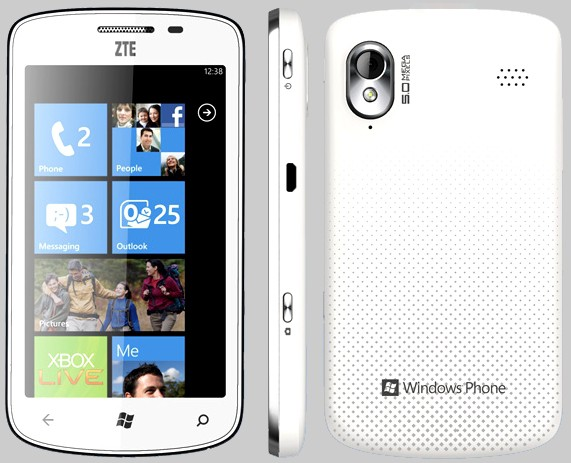 Tania – первый смартфон от ZTE c Windows Phone Mango