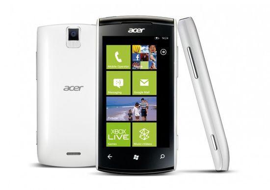 Бюджетный WP7-смартфон Acer W4 Allegro анонсирован во Франции