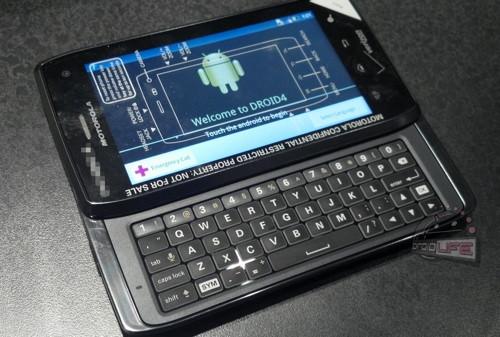 Шпионские фото Motorola DROID 4