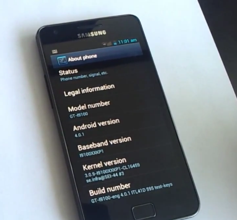 Samsung выпустит апдейт Ice Cream Sandwich для устройств Galaxy в 1 квартале 2012 года