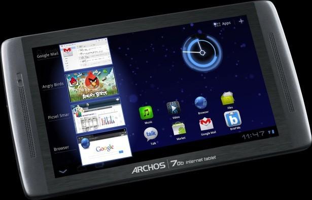 Archos 70b - обновленный планшет с поддержкой Honeycomb