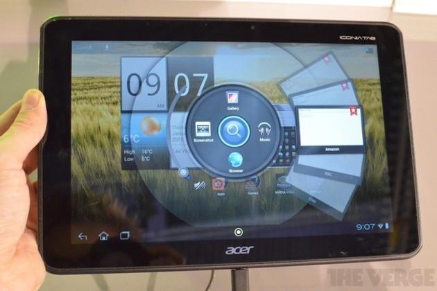 Acer Iconia Tab A510 - еще один 4-ядерный планшет на CES