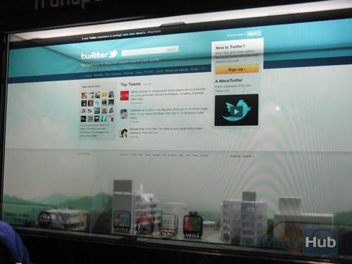 Samsung продемонстрировала прозрачный дисплей