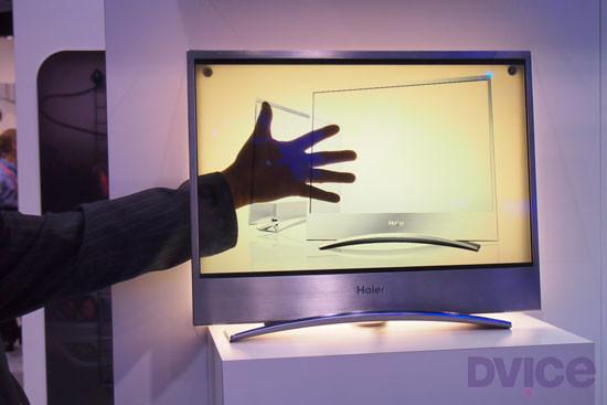 Haier показала на CES прозрачный OLED-телевизор