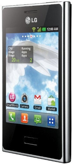 Новый LG Optimus L3 E400 на платформе Android Gingerbread