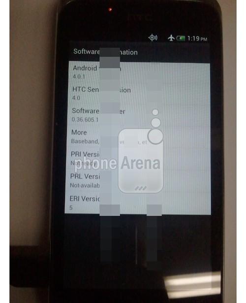 «Шпионское» фото смартфона HTC на платформе Ice Cream Sandwich