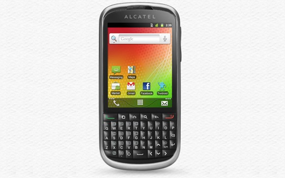 Alcatel OT-915 с клавиатурой QWERTY и Android Gingerbread приедет на MWC