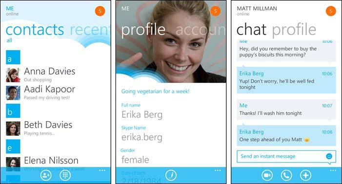 Бета-версия Skype доступна для Windows Phone