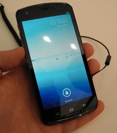 Fujitsu еще раз представила прототип четырехъядерного смартфона на Tegra 3