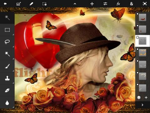 Adobe выпустила Photoshop Touch для iPad 2