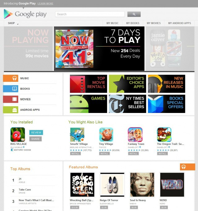 Android Market неожиданно превратился в Google Play