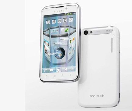 Alcatel One Touch Ultra 995 с 4.3-дюймовым WVGA-экраном и 1.4 ГГц процессором