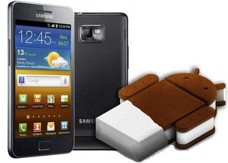 Российские пользователи Samsung Galaxy S II получили возможность обновиться до версии Android 4.0 Ice Cream Sandwich