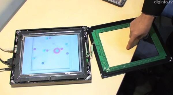 NEC показала сенсорный экран с направленной обратной связью