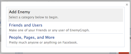 В Facebook теперь можно добавлять врагов