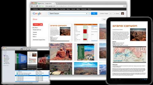 Google Drive представлен официально: 5 ГБ дискового пространства для приложений, документов и прочего