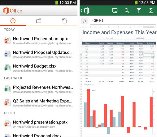 Microsoft выпустила пакет Office Mobile for Office 365 для Android-смартфонов