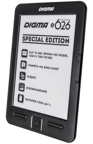 Digma E626 Special Edition: 6-дюймовый ридер с экраном E Ink Pearl HD
