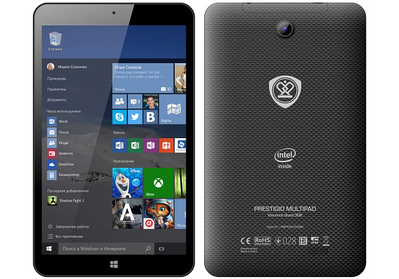 Prestigio MultiPad Visconte Quad 3GK: 8-дюймовый планшет с Windows 10