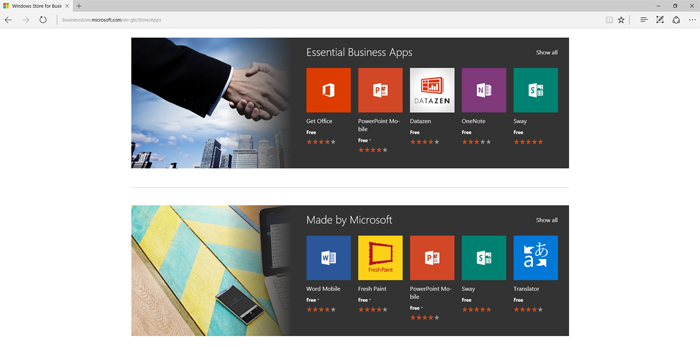 Microsoft открыла Windows Store for Business