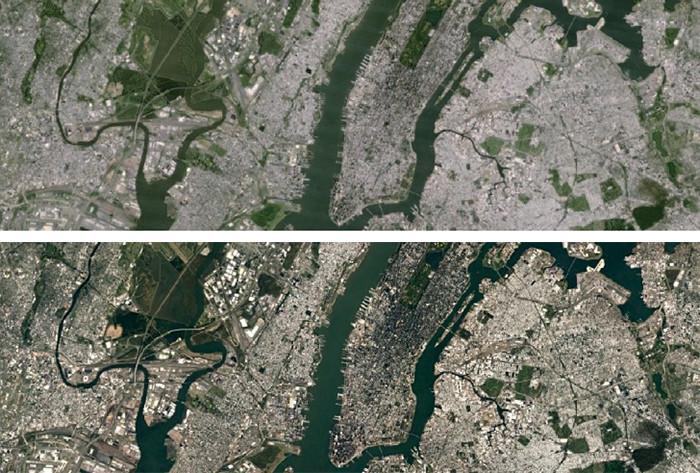 Четкость снимков местности на картах Google Maps значительно возросла
