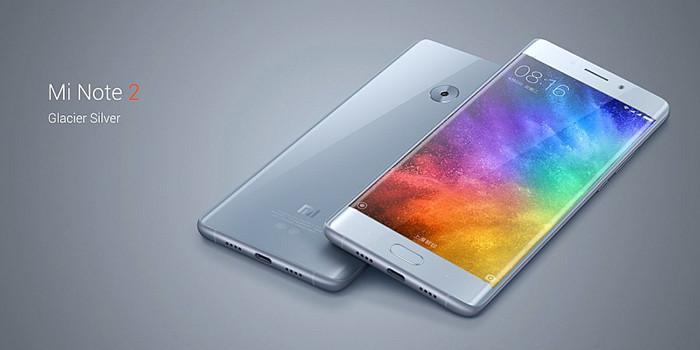 Представлен смартфон Xiaomi Mi Note 2 с изогнутым экраном и батареей на 4 070 мАч
