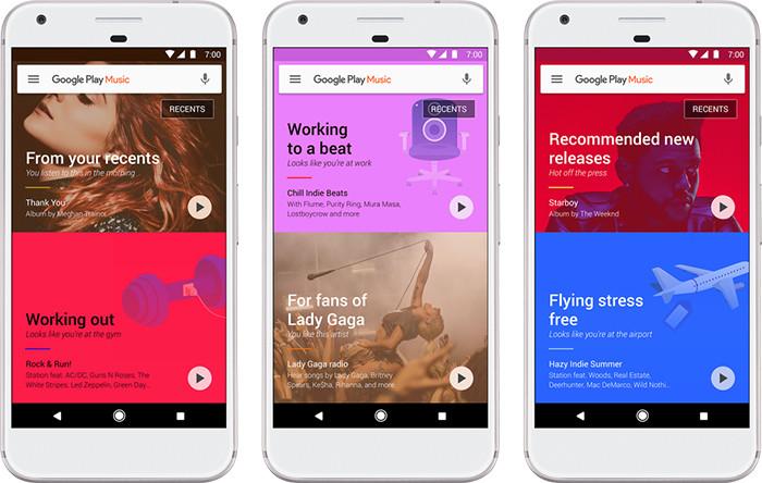 Google представила неменее разумный Play Music сновым дизайном клиентов