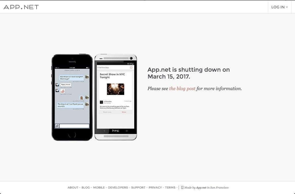 Проект App.net прекратит работать в марте