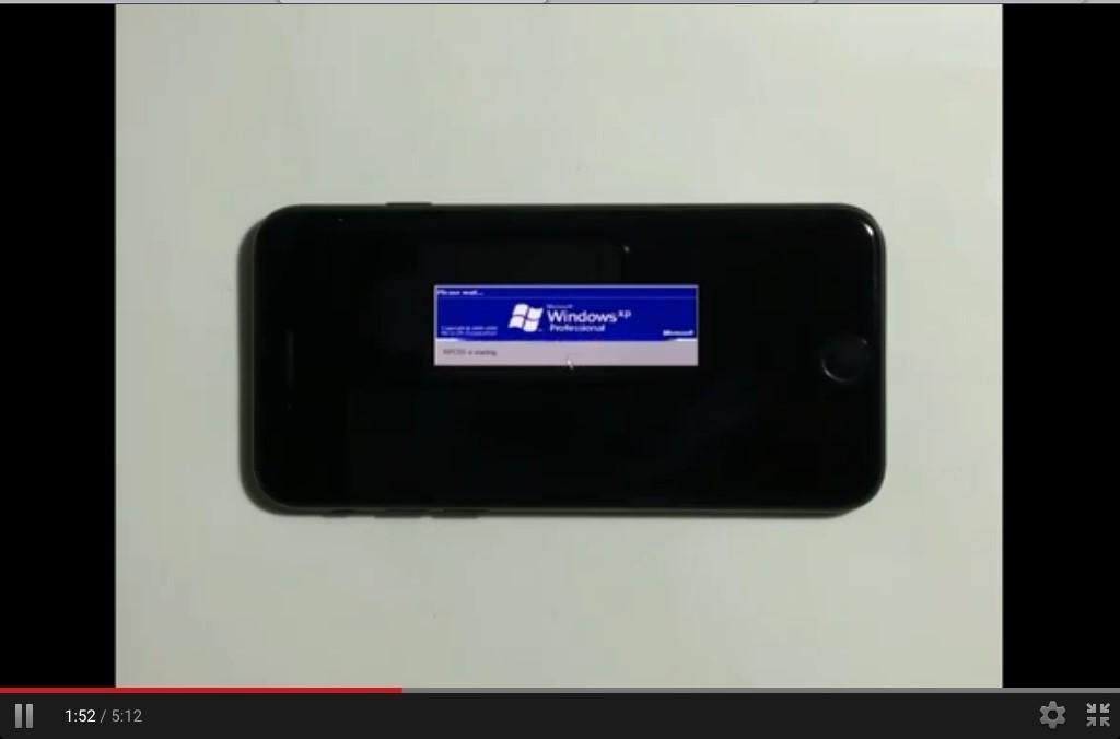 На iPhone 7 можно установить Windows XP