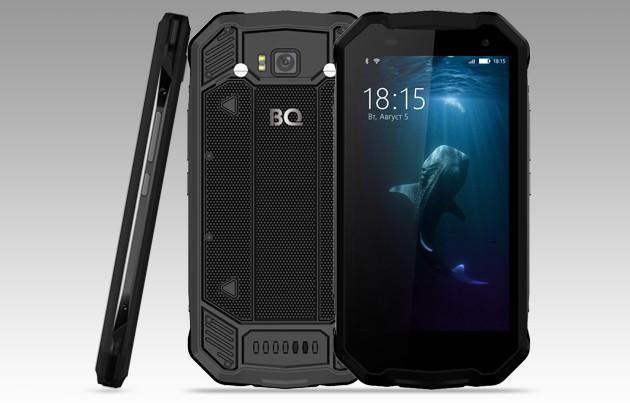 BQ-5033 Shark недорогой защищенный смартфон на Android 7.0 Nougat