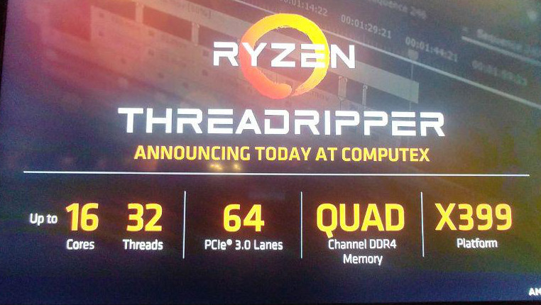 Computex 2017 AMD Threadripper