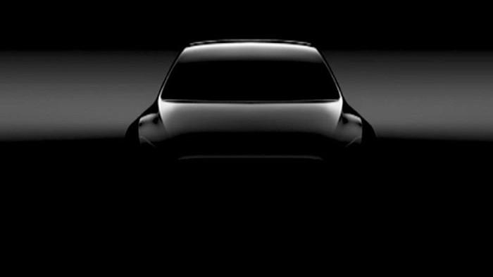 Появилось первое изображение электромобиля Tesla Model Y