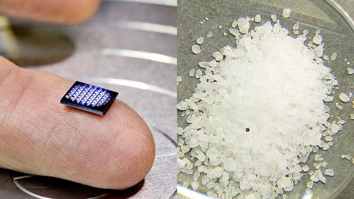 IBM разработала нано-компьютер размером с крупицу соли