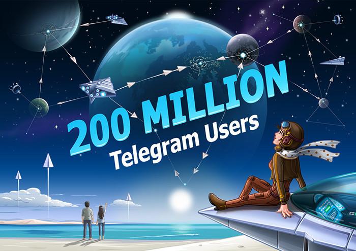 Telegram достиг отметки в200 млн активных пользователей вмесяц