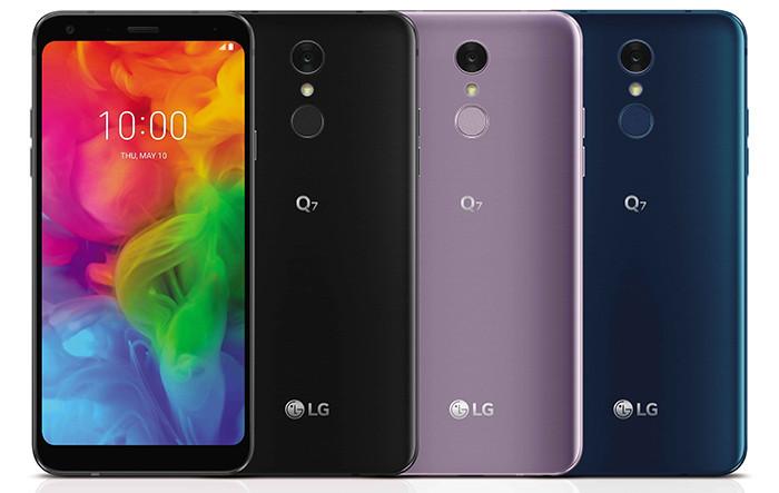 Смартфоны среднего класса LG Q7 получили экраны 18:9, металлические корпуса и защиту от ударов и воды