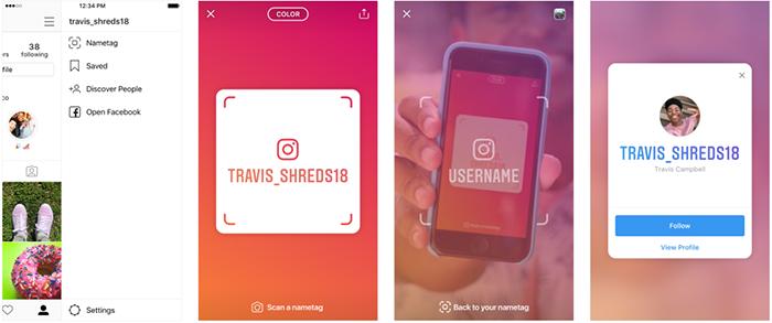 Instagram внедрил карточки-коды для быстрого поиска пользователей с помощью камеры