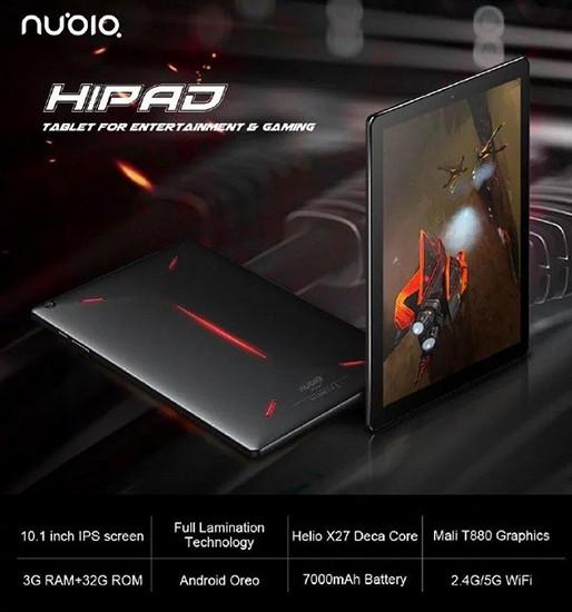 Появилась первые подробности о геймерском планшете ZTE Nubia HiPad с десятияденым процессором