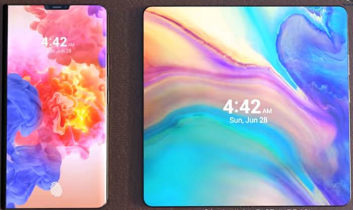 Раскрыт дизайн раскладного смартфона Huawei с 5G-модемом и гибким экраном
