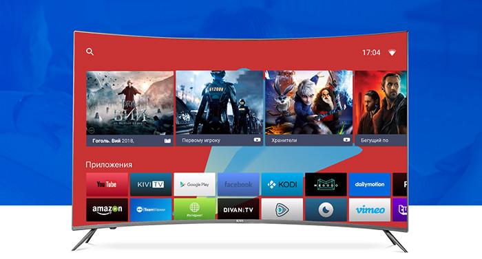 В России представлены новые телевизоры Kivi – изогнутые, с 4K-экранами и поддержкой HDR