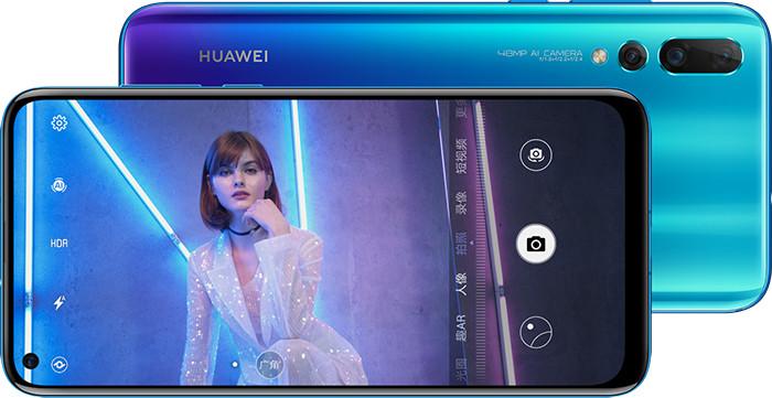 Huawei представила смартфон среднего класса Nova 4 с «дырявым» экраном и тройной задней камерой