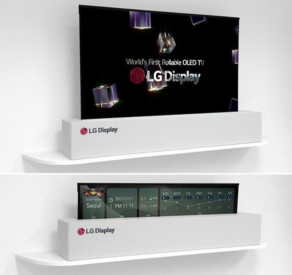 LG готовится начать продажи гибкого телевизора, способного свариваться в рулон