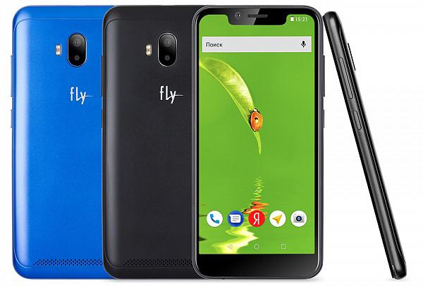 Смартфон Fly View за 6 590 рублей получил экран с монобровью и сдвоенную камеру