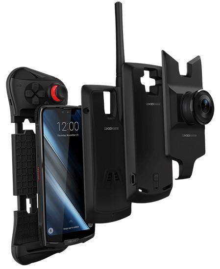 В России начинаются продажи модульного защищенного смартфона Doogee S90 с батареей на 5050 мАч