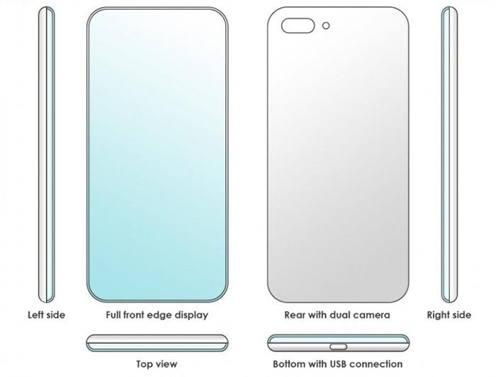 Xiaomi придумала смартфон со скругленным с четырех сторон экраном