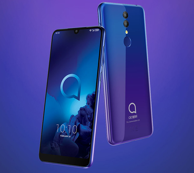 MWC 2019. Недорогие смартфоны Alcatel 3 и 3L получили большие экраны и емкие батареи