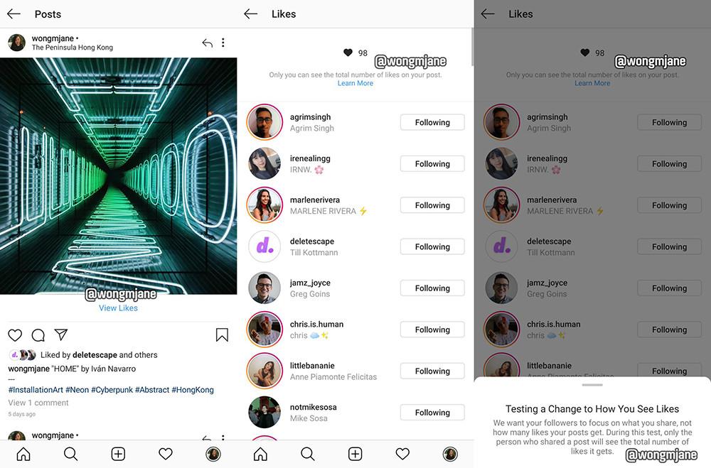Instagram перестанет показывать количество лайков под фото