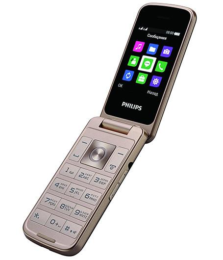 Начались продажи раскладного кнопочного телефона Philips Xenium E255