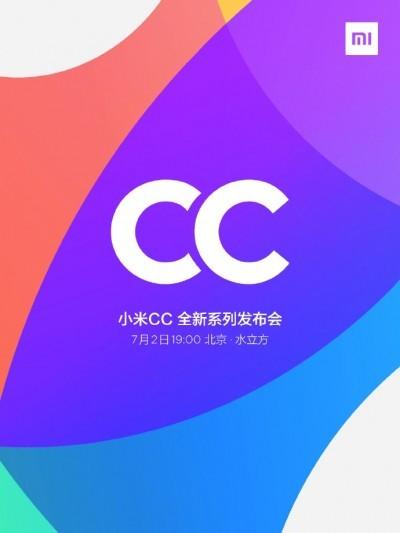 Раскрыта дата презентации смартфонов Xiaomi серии CC