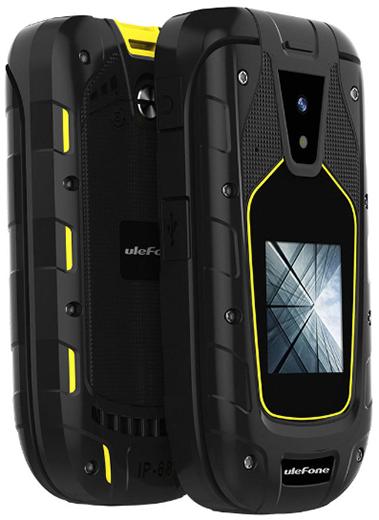 Представлен дешевый раскладной кнопочный телефон с защитой от воды и ударов